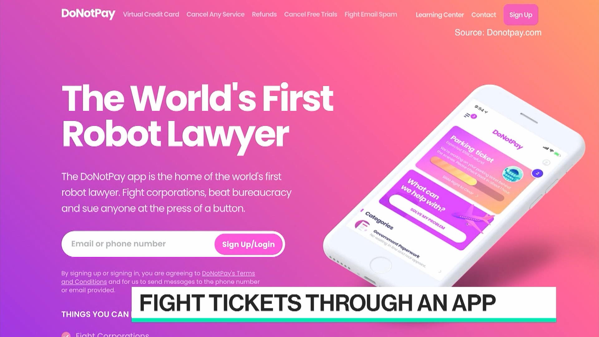 DoNotPay.com CEO Browder on World's First Robot Lawyer