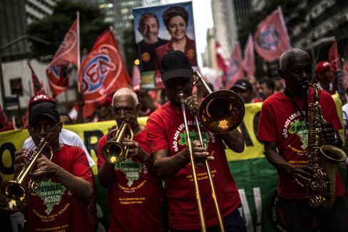 Protest Against President Dilma Rousseff Impeachment Proceedings