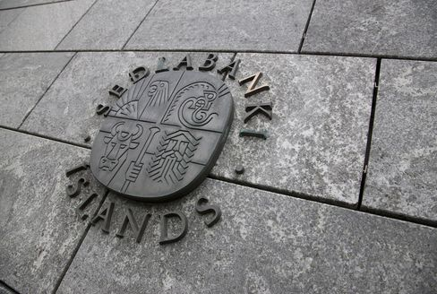 Sedlabanki Islands Logo Outside The Bank's Offices In Reykjavik