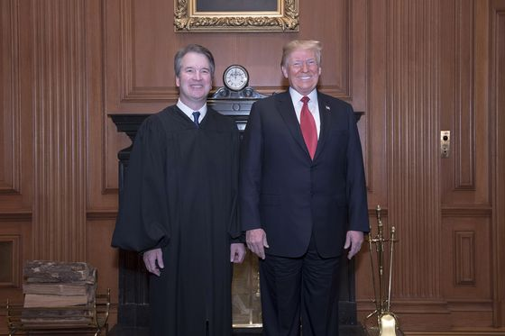 Trump Joins Kavanaugh for Formal Supreme Court Investiture Ceremony
