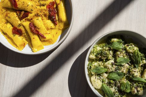 Lilia opened in January and is already a destination for excellent house-made pasta such as the sheep's milk cheese agnolotti in saffron butter and the ricotta gnocchi in a broccoli pesto.
