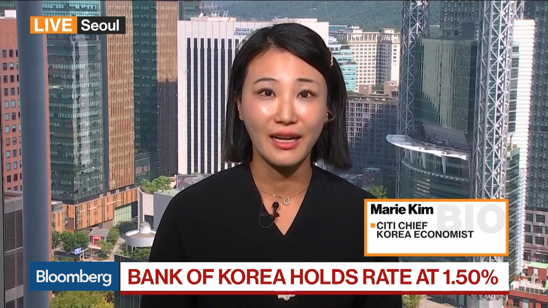 Citi Chief Korea Economist Marie Kim on BOK Decision, Fiscal Policy, Growth Outlook