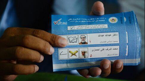 Afghan Election Ballots