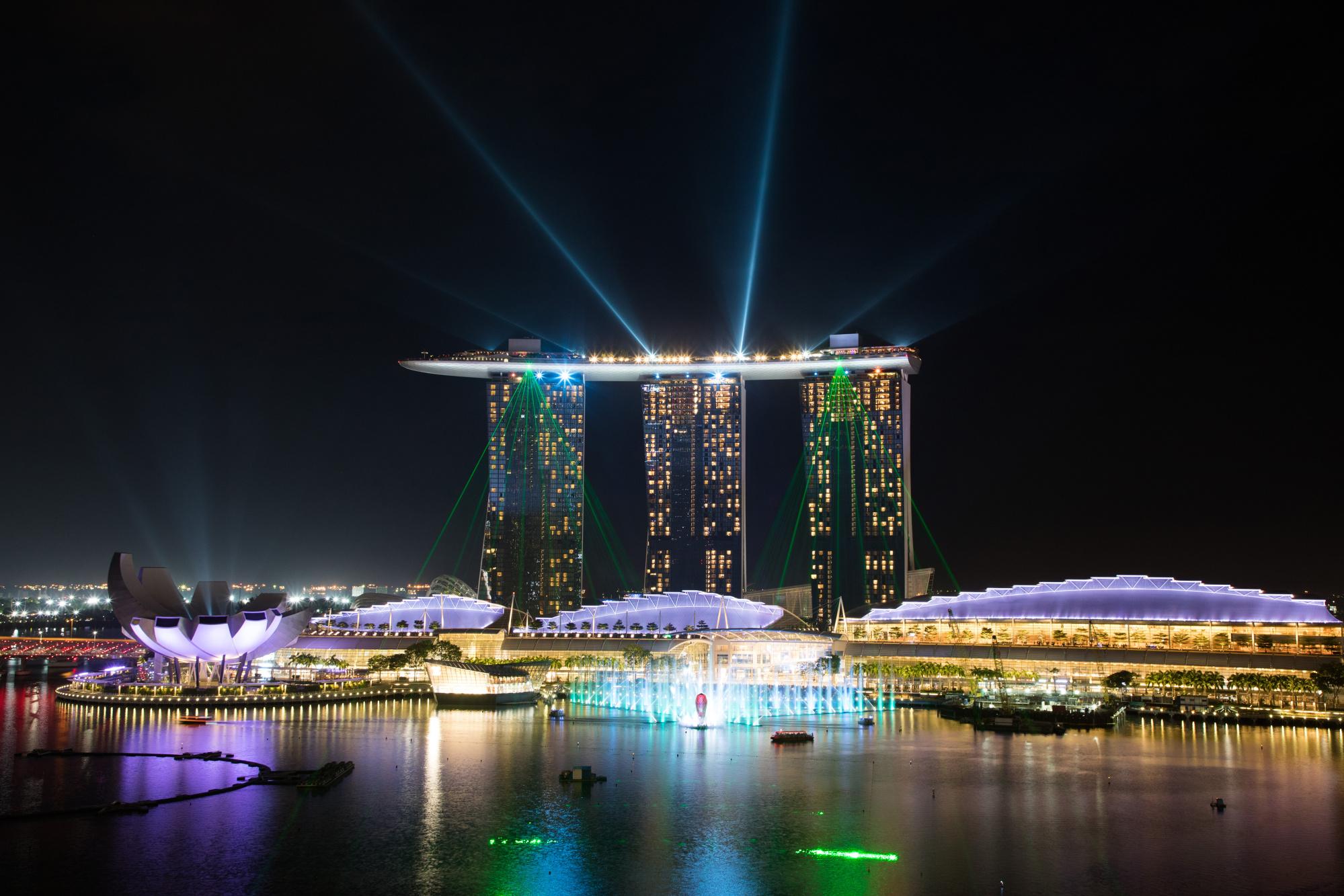 Hotel dan kasino Marina Bay Sands di Singapura.
