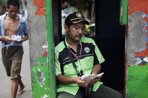 Bus Conductor in Jakarta
