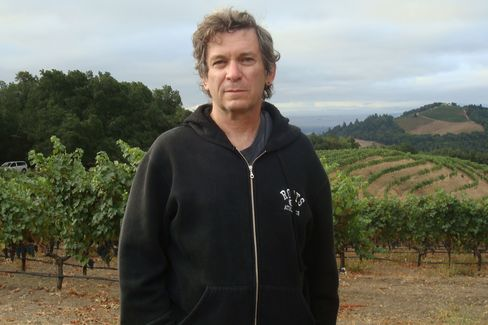 """Screenwriter Robert Kamen stands in the 280-acre Sonoma vineyard he bought when he sold his first screenplay. He bought the option on the book about the Judgment of Paris by George Taber and is making the """"official"""" film, to be released next year."""