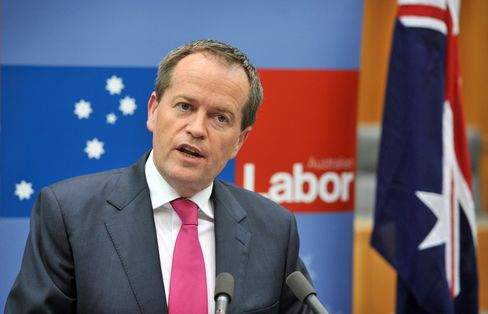 Australia's Labor Party Leader Bill Shorten
