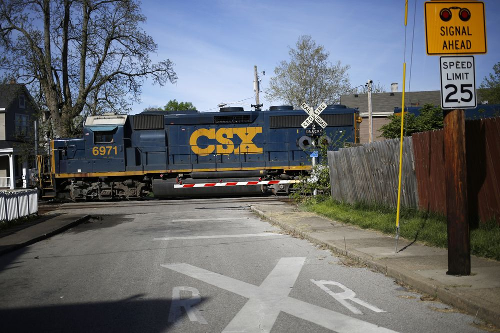 csx rides late ceo s revamp to u s railroad efficiency record