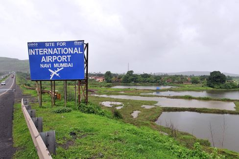 Signboard Marks Site For Future Airport