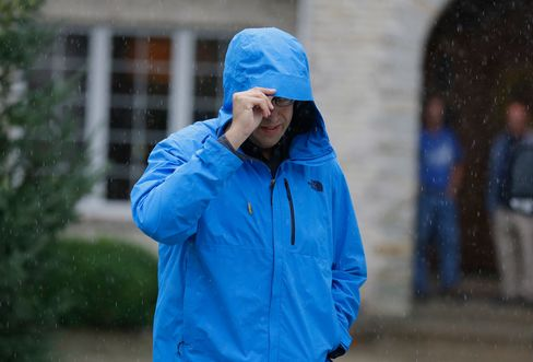 Jared Fogle leaves his home on July 7.