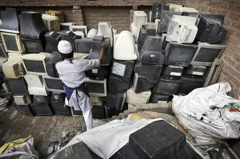 E-waste Sorted On The Streets Of The Capital