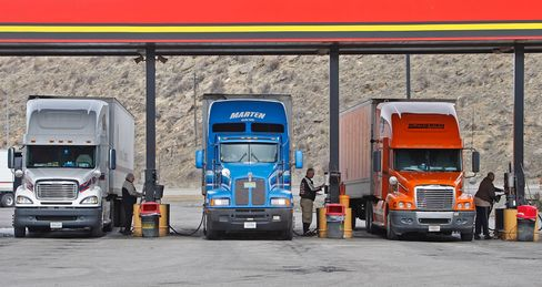 Truck Stocks in Fast Lane as Freight up with Economy