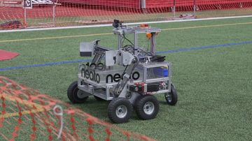 A robot competitor in the NASA Sample Return Robot Challenge.