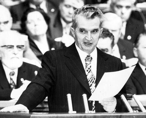 Romania's President Nicolae Ceausescu.