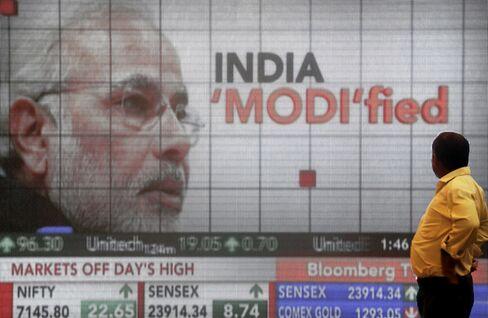 Sensex Surges On Modi Optimism