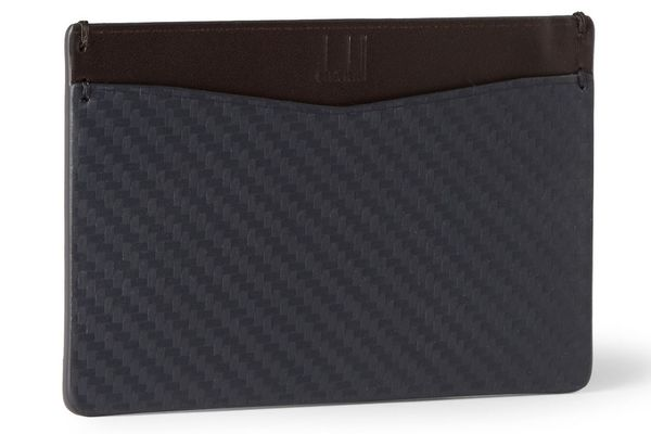 Ten skinny wallets to help you battle the bulge bloomberg dunhill chassis cardholder its made of leather but looks like carbon fiber colourmoves