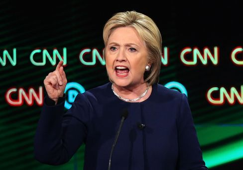 Democratic presidential candidate Hillary Clinton speaks during the CNN Democratic Presidential Primary Debate on March 6, in Flint, Michigan.