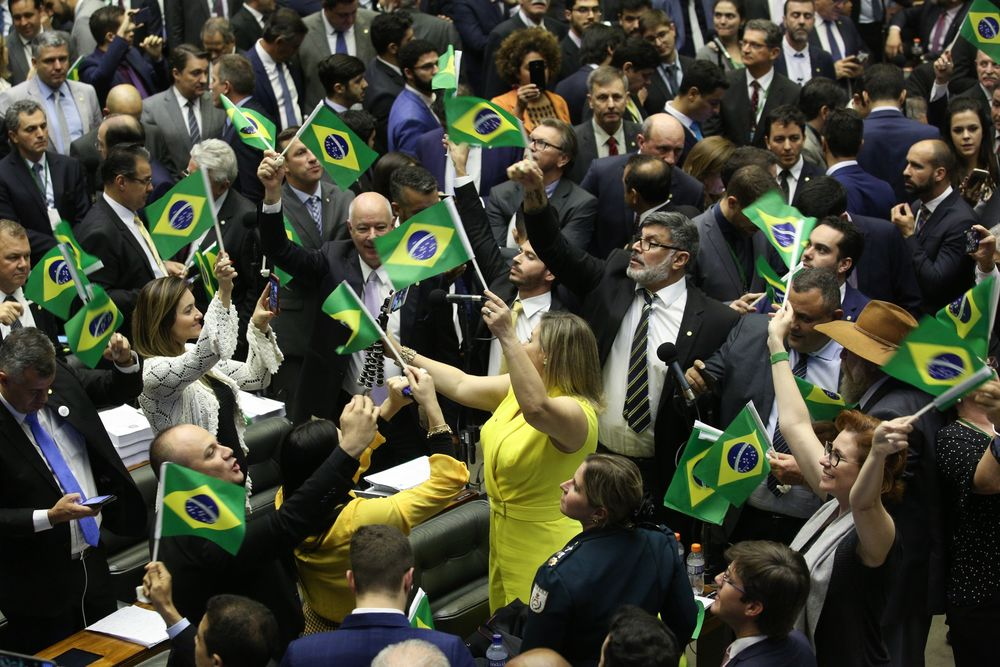 Brazil's Lower House Votes On President Bolsonaro's Flagship Pension Proposal
