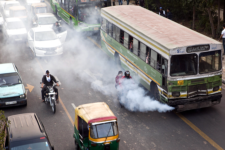 automobile pollution in india