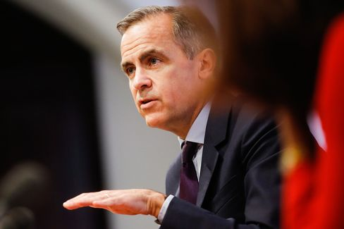 Bank of England Governor Mark Carney Presents The Quarterly Inflation Report At A News Conference