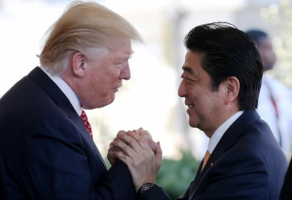 Donald Trump andShinzo Abe