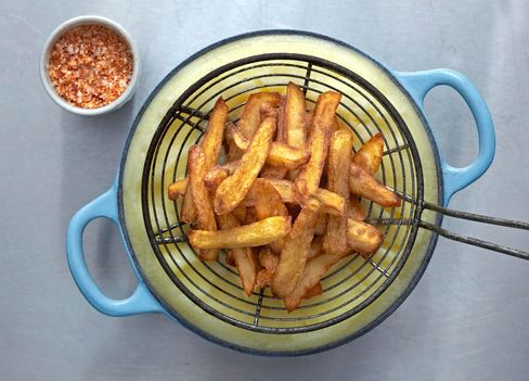 Fries are served at Comptoir Gascon, near Smithfield Market.