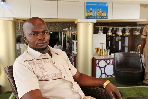 "Former militant leader ""General"" Ramsey Mukoro at the Aridolf hotel in Yenagoa."