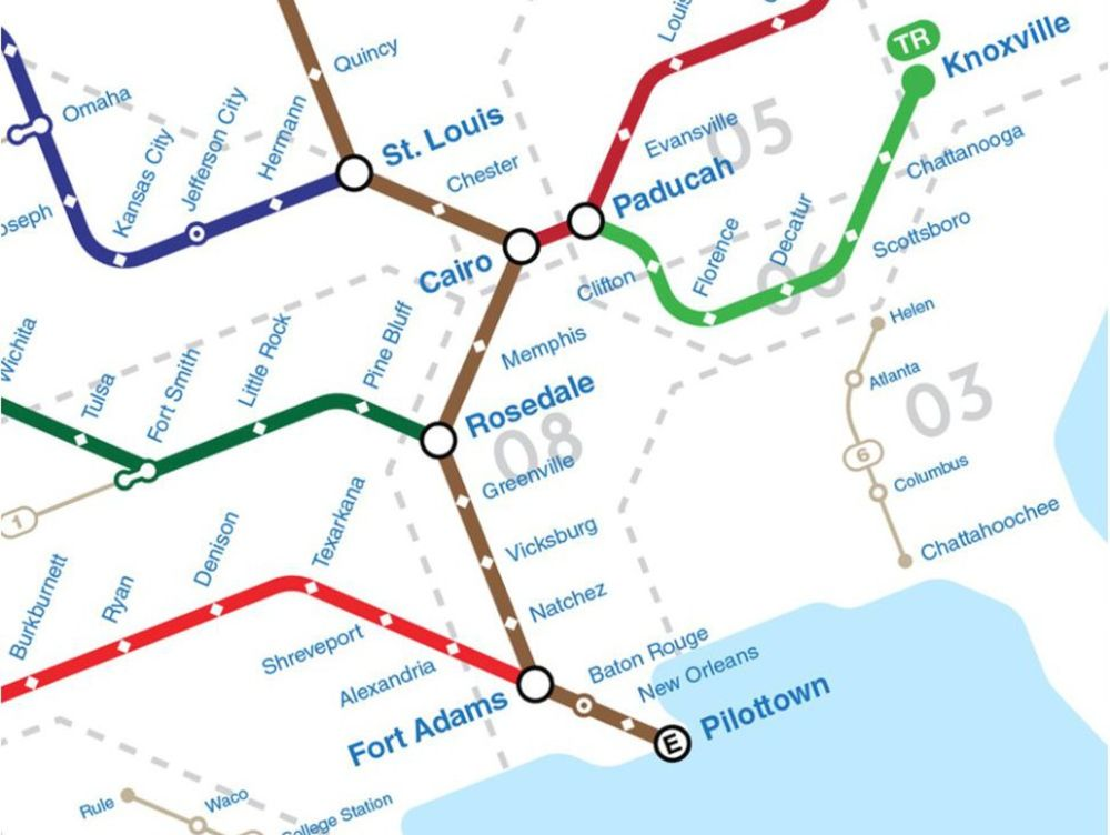 Major Rivers Of The U S Mapped As Subway And Bus Lines Bloomberg