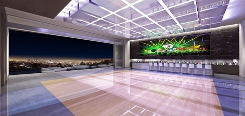 An 8,500-square-foot night club in the under-construction mansion.