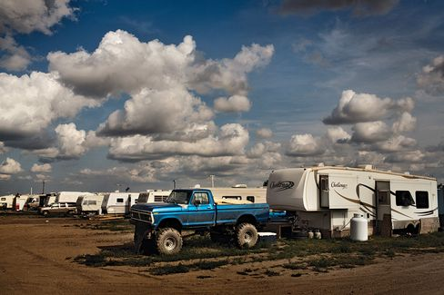 The Fox Run RV Park outside Williston, N.D.