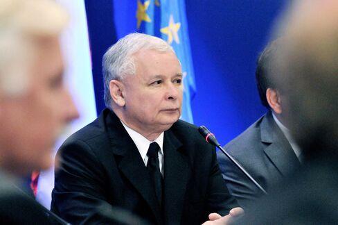 Polish opposition leader Jaroslaw Kaczynski.