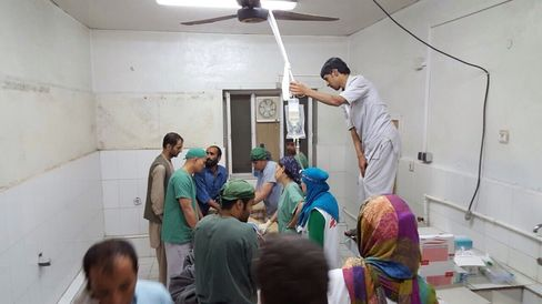 Doctors Without Borders hospital bombed in Kunduz