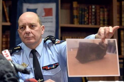 General David Galtier Holds A Picture Of The Second Black Box