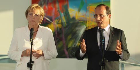 German Chancellor Merkel and French President Hollande