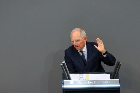 Wolfgang Schaeuble on Sept. 6.
