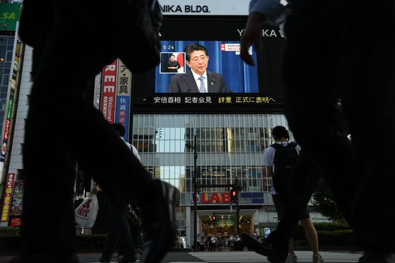 Japan Cabinet Support Leaps as Prime Minister Abe Heads for Exit