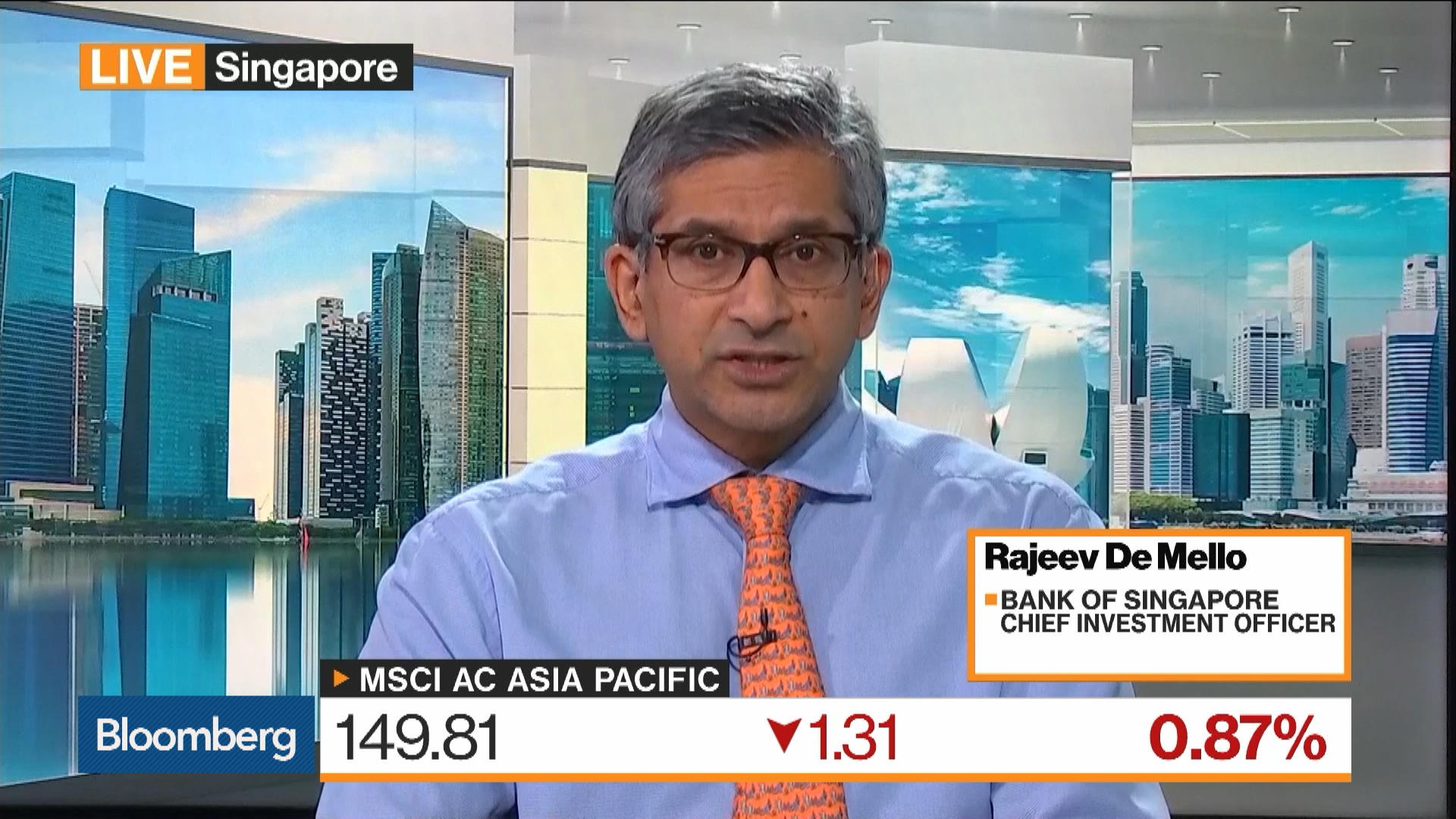 Bank of Singapore CIO Rajeev De Mello on Yield Inversions, Investment Strategy