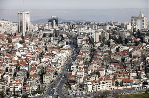 Residential properties stand on the city skyline in Jerusalem, Israel, on March 16, 2014.