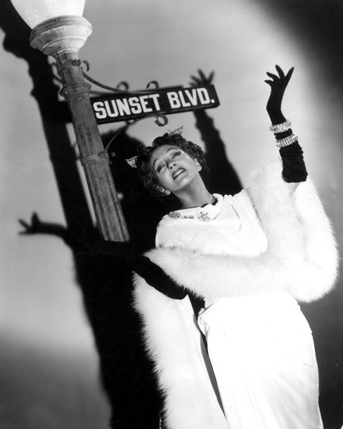 Gloria Swanson (1899-1983) in a promotional portrait for Sunset Boulevard.
