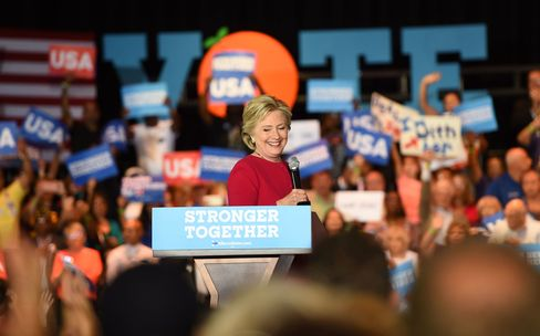 Hillary Clinton at Broward College in Coconut Creek, Florida on Oct. 25.