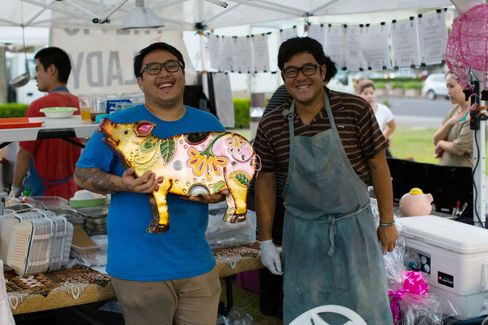 From left to right: Brothers Andrew and Alex Le of the Pig and the Lady in Honolulu
