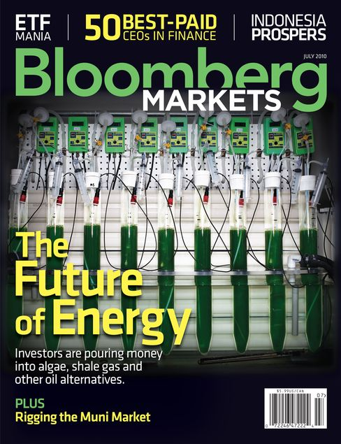 Cover of the July 2010 issue of Bloomberg Markets magazine