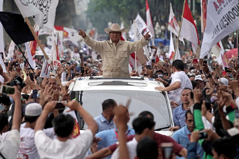 Probowo Warns of Unrest After Indonesia Vote as Crowds Surge