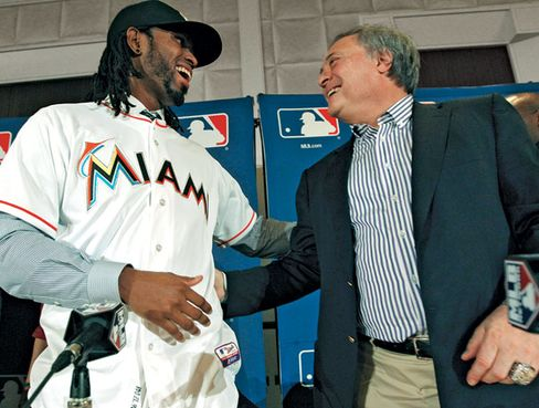 Jose Reyes, celebrating better days with Loria, was traded in November