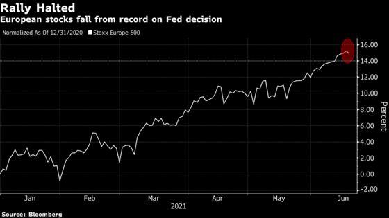 European Stocks Pause Winning Streak as Miners Slump After Fed