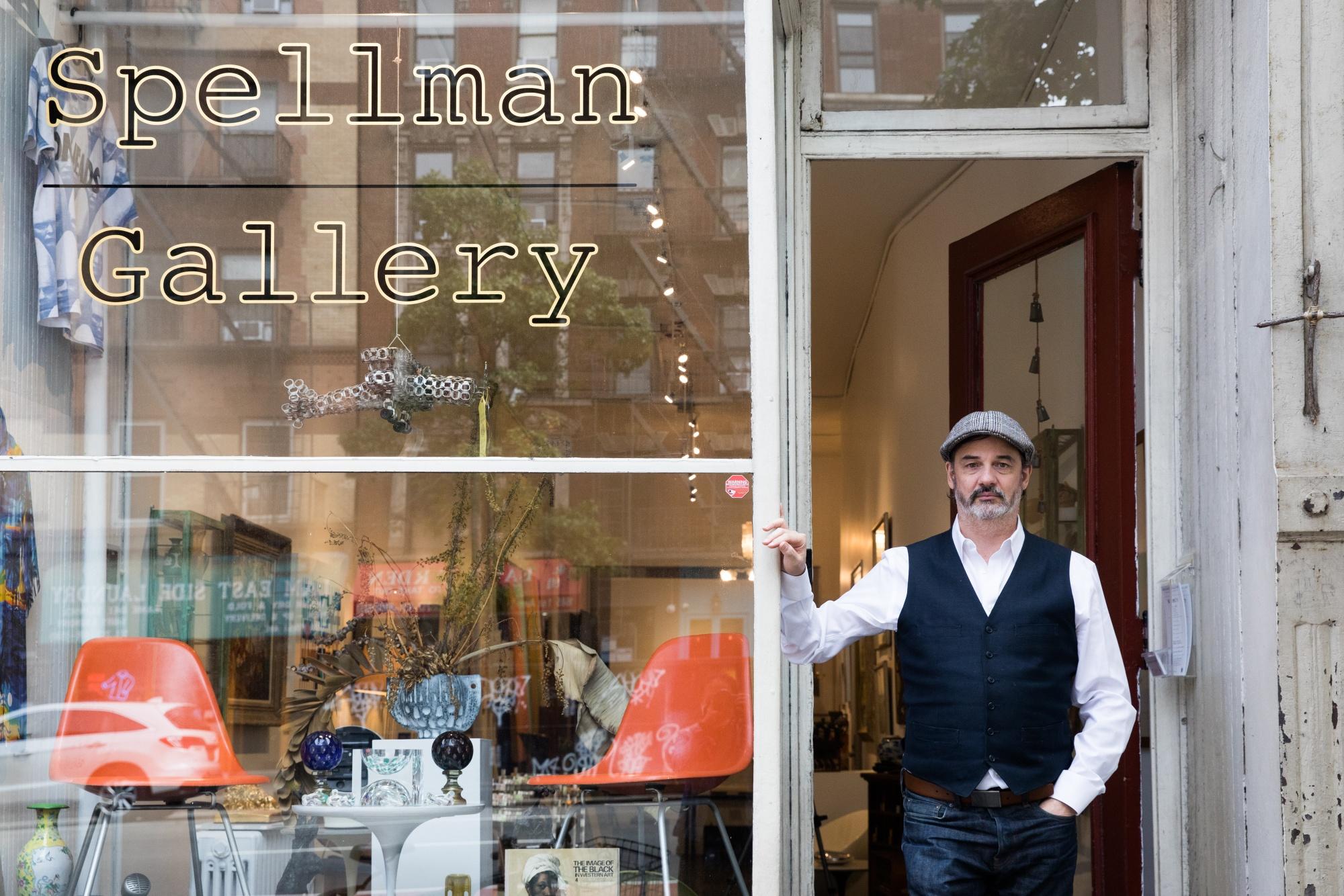 Glenn Spellmanat his Upper East Side gallery.