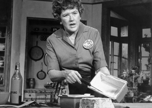 Julia Child Cooking on Television