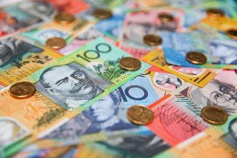Australian Currency As Aussie Drops To Six-Year Low