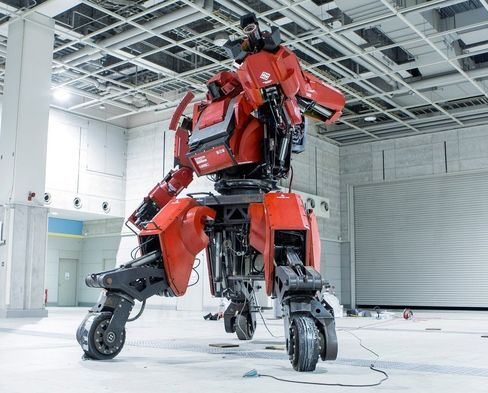 A 12-foot robot you can ride in. The Kuratas isn't messing around.
