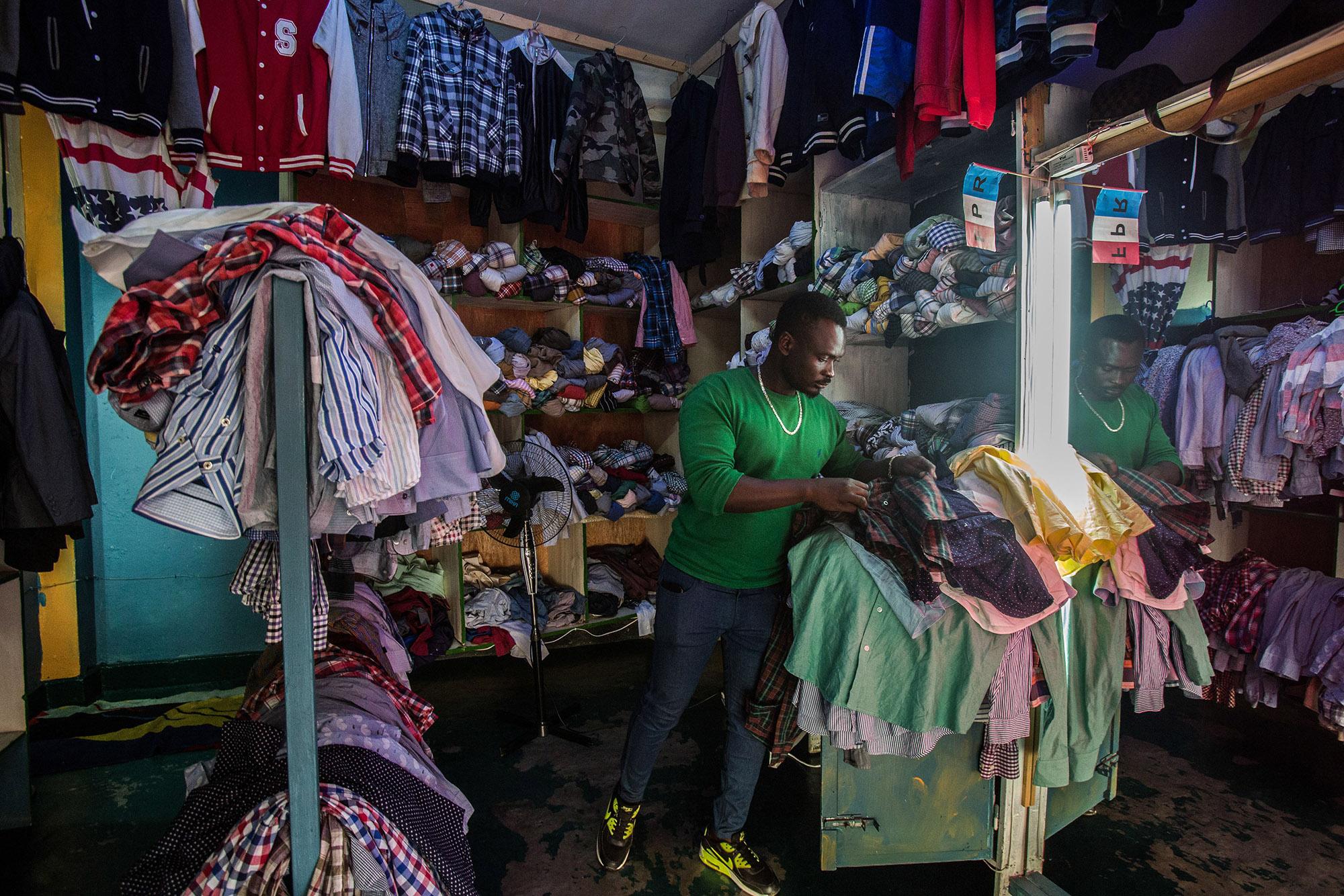 A worker at his shop in Kigali, Rwanda.